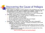 discovering the cause of pellagra