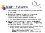 niacin functions