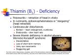 thiamin b 1 deficiency