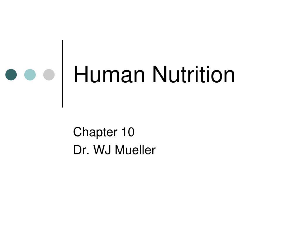 human nutrition l.
