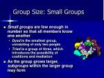 group size small groups