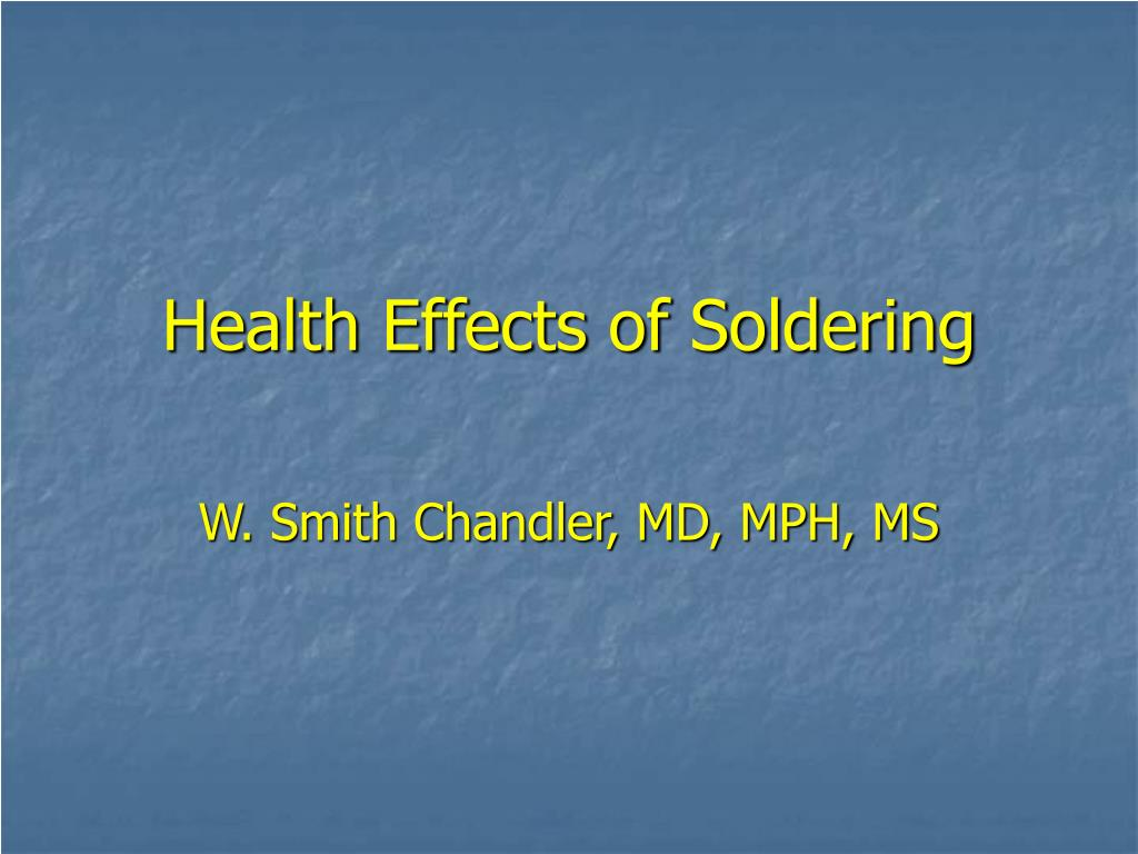 health effects of soldering l.