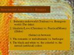 structuralist analysis 1 binaries