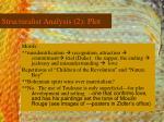 structuralist analysis 2 plot