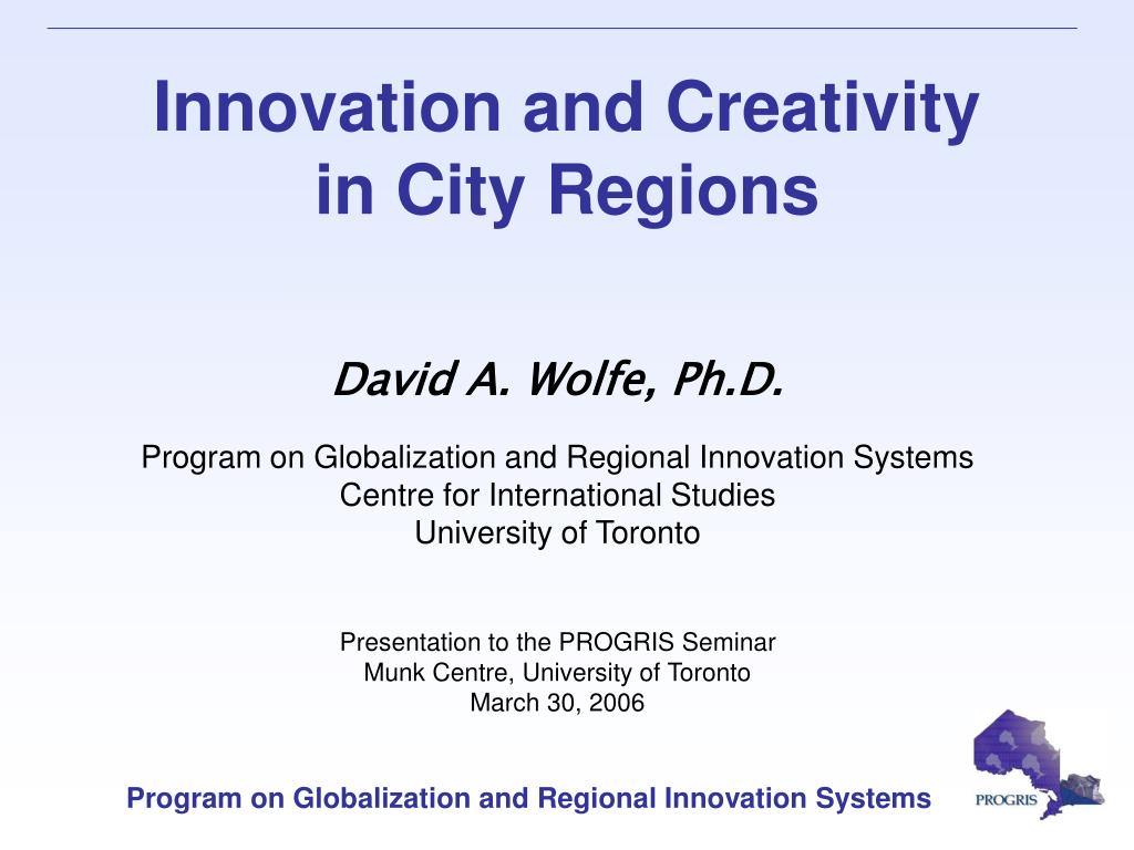 innovation and creativity in city regions l.