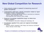 new global competition for research