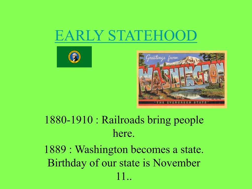 early statehood l.