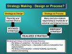 strategy making design or process