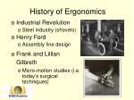 history of ergonomics