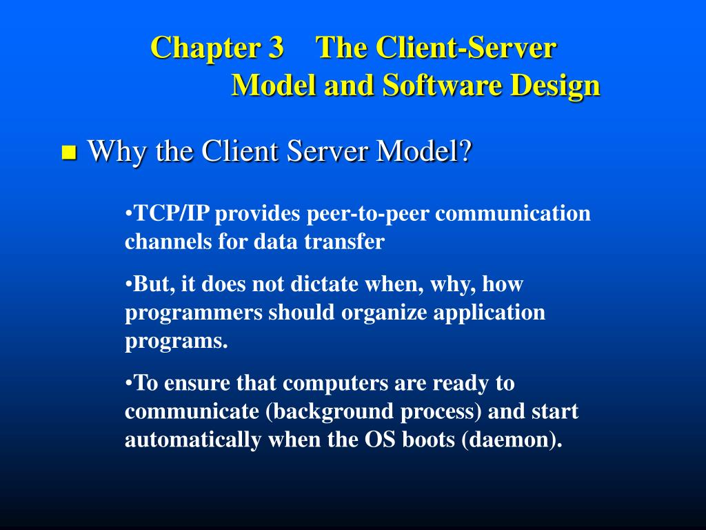 chapter 3 the client server model and software design l.