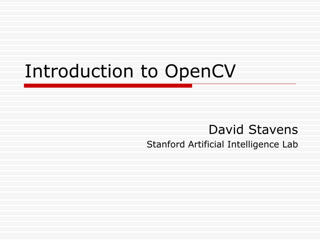 introduction to opencv l.