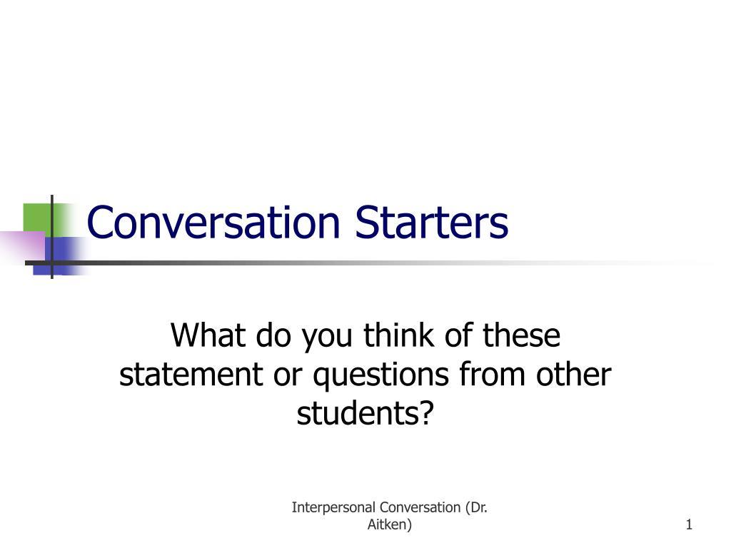 conversation starters l.