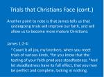 trials that christians face cont14