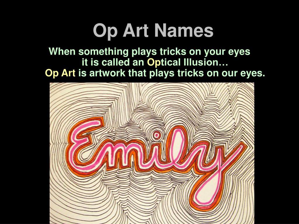 Op Art Names
