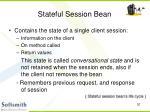 stateful session bean