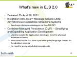 what s new in ejb 2 0