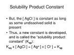solubility product constant29