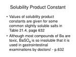 solubility product constant30