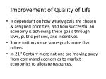 improvement of quality of life