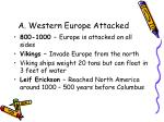 a western europe attacked