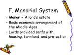 f manorial system