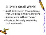 g it s a small world