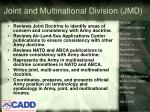 joint and multinational division jmd
