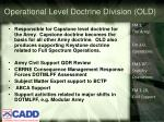 operational level doctrine division old