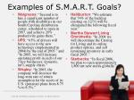 examples of s m a r t goals