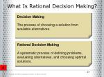 what is rational decision making23