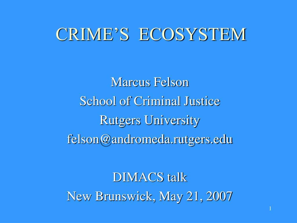 crime s ecosystem l.