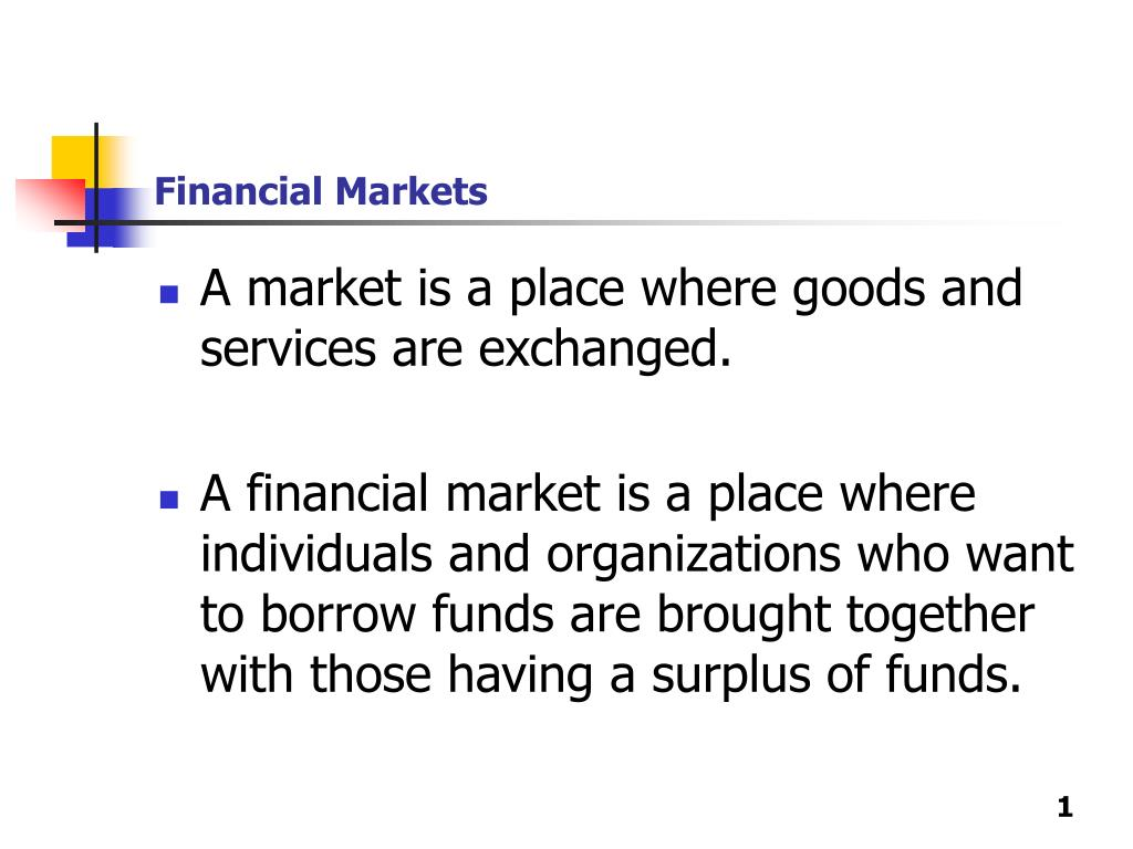 financial markets l.