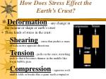 how does stress effect the earth s crust
