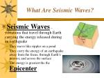 what are seismic waves