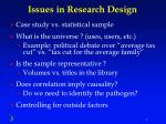 issues in research design