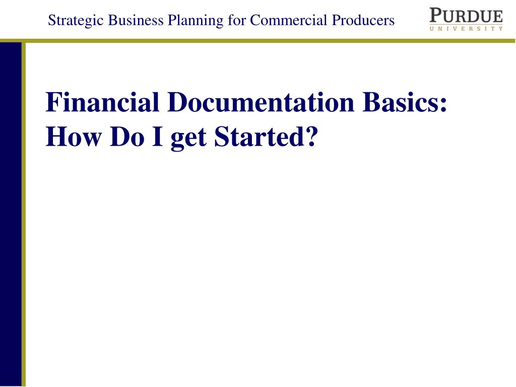 financial documentation basics how do i get started l.