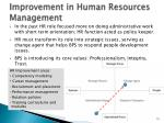 improvement in human resources management