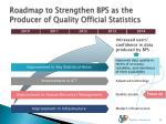 roadmap to strengthen bps as the producer of quality official statistics