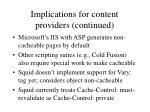 implications for content providers continued14