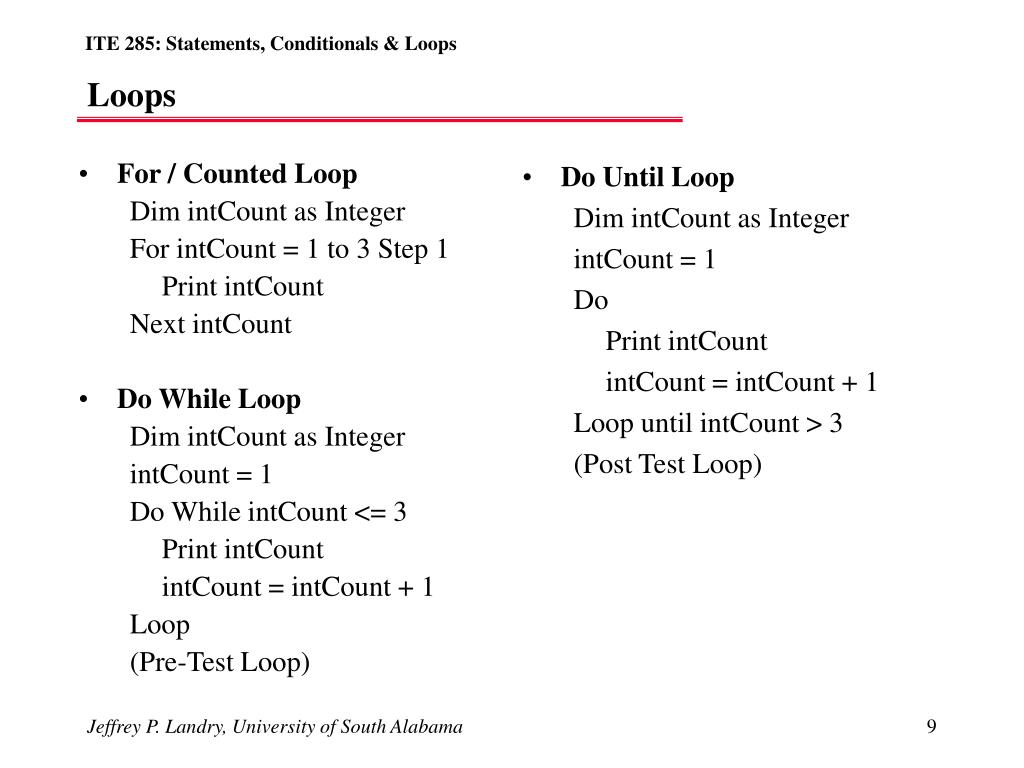 For / Counted Loop