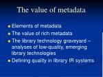 the value of metadata