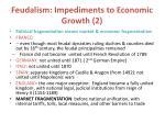 feudalism impediments to economic growth 2