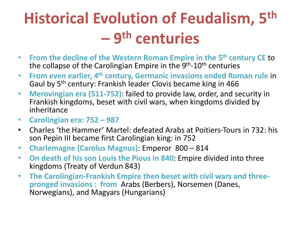 Historical Evolution of Feudalism, 5
