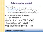 a two sector model
