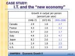 case study i t and the new economy