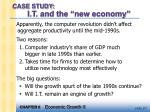 case study i t and the new economy28