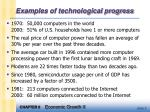 examples of technological progress