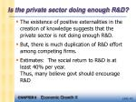 is the private sector doing enough r d