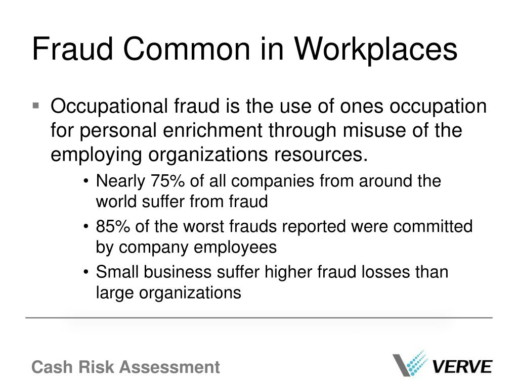 Fraud Common in Workplaces