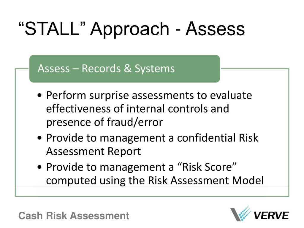 """""""STALL"""" Approach - Assess"""